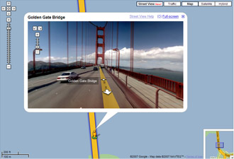 Google Maps street viewer 3D
