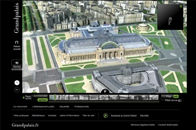 Visite virtuelle en 3D pour le Grand Palais à Paris