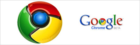 Logo de Google Chrome version beta, le navigateur web