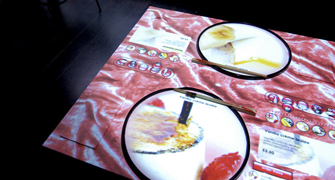 table tactile du restaurant interactif inamo
