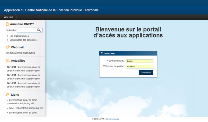 CNFPT intranet accueil